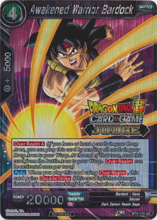Awakened Warrior Bardock (Judge Promo) - BT3-110 - PR