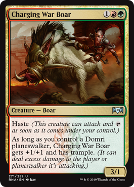 Charging War Boar - Planeswalker Deck Exclusive