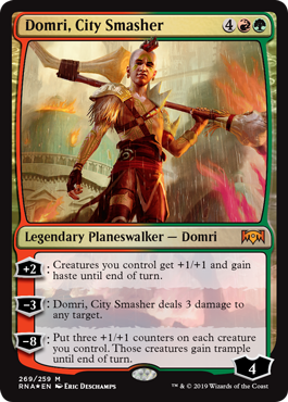 Domri, City Smasher - Foil Planeswalker Deck Exclusive