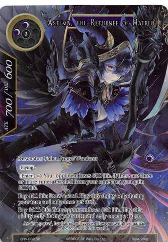 Astema, the Returnee of Hatred - SNV-082 - SR - Full Art