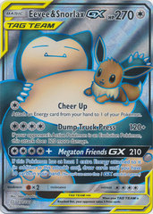 Eevee & Snorlax GX - 171/181 - Full Art