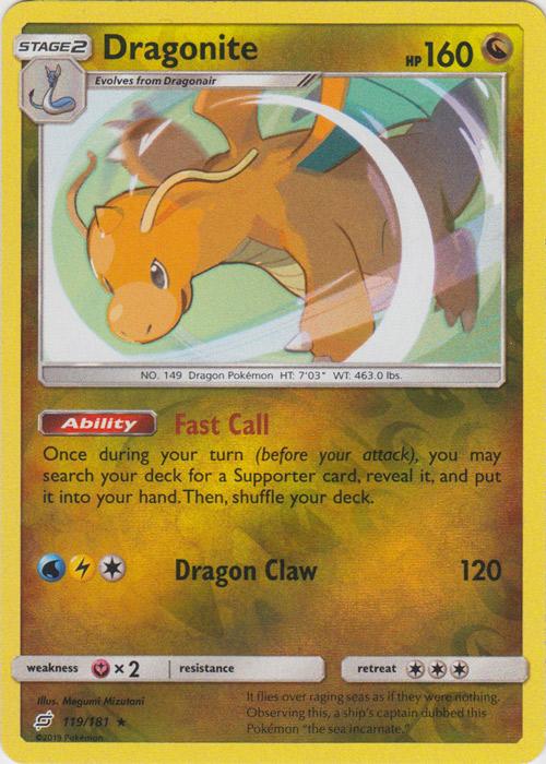 Dragonite - 119/181 - Holo Rare - Reverse Holo