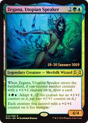 Zegana, Utopian Speaker - Foil Prerelease Promo