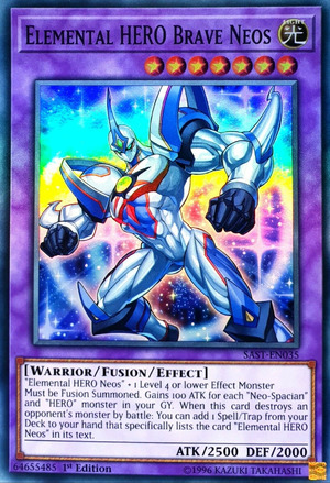 Elemental HERO Brave Neos - SAST-EN035 - Super Rare - 1st Edition