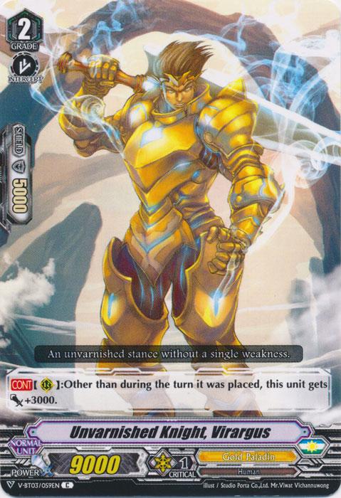 Unvarnished Knight, Virargus - V-BT03/059EN - C