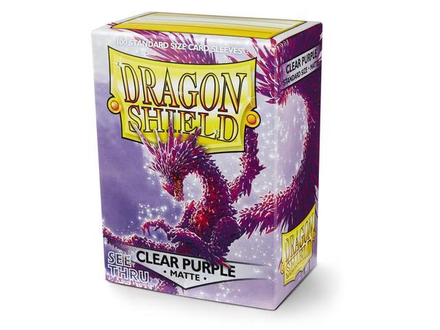 Dragon Shield Sleeves: Matte Clear Purple (Box Of 100)