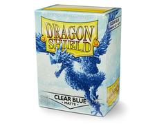 Dragon Shield Sleeves - Matte Clear Blue (100ct)