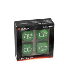 Ultra Pro - Deluxe 22MM Green Mana Loyalty Dice Set for Magic: The Gathering