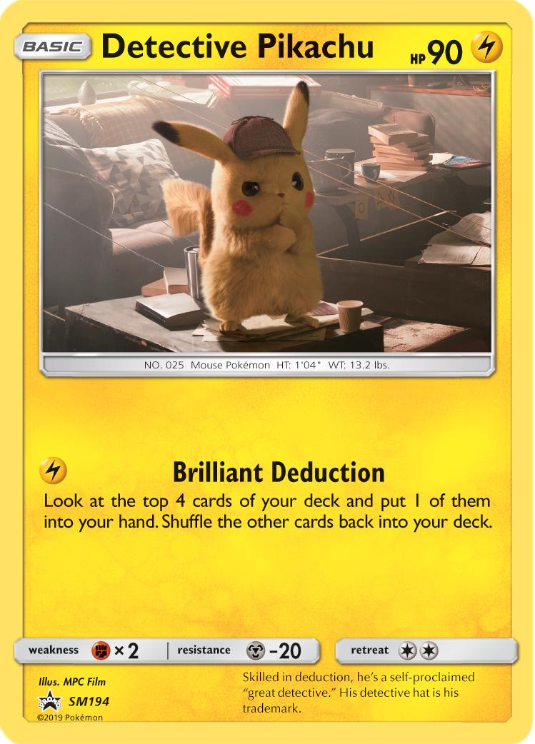 Detective Pikachu - SM194 - SM Black Star Promo
