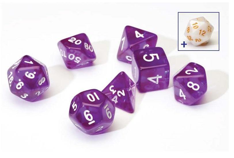 Dice Set - Purple Translucent