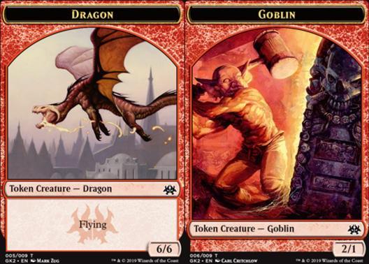 Dragon Token (005) // Goblin Token (006)