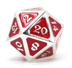 Big D20 - Mythica Platinum Ruby