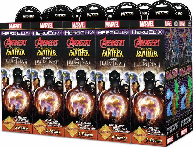 Marvel HeroClix: Avengers Black Panther and the Illuminati Booster Brick
