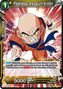 Fearless Assault Krillin - BT6-089 - C - Pre-release