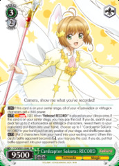 Cardcaptor Sakura: RECORD - CCS/WX01-034S - SR