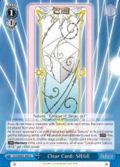 Clear Card: SIEGE - CCS/WX01-096 - U