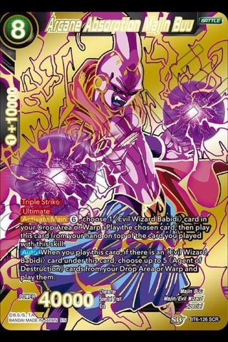 Arcane Absorption Majin Buu - BT6-126 - SCR