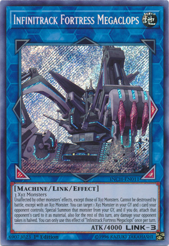 Infinitrack Fortress Megaclops - INCH-EN011 - Secret Rare - 1st Edition