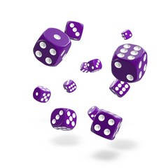 Oakie Doakie Dice - D6 Solid Purple 12mm Set of 36