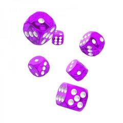Oakie Doakie Dice - D6 Translucent Purple 16mm Set of 12