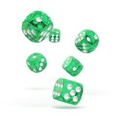 Oakie Doakie Dice - D6 Speckled Green 16mm Set of 12 (ODD410016)