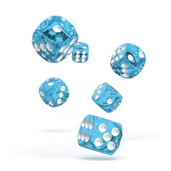 Oakie Doakie Dice - D6 Speckled Light Blue 16mm Set of 12 (ODD410022)