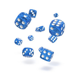 Oakie Doakie Dice - D6 Speckled Blue 12mm Set of 36