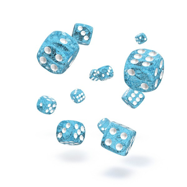 Oakie Doakie Dice - D6 Speckled Light Blue 12mm Set of 36 (ODD400022)