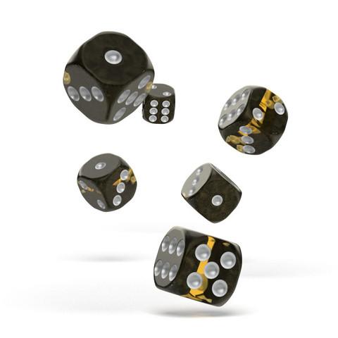 Oakie Doakie Dice - D6 Enclave Amber 16mm Set of 12 (ODD410051)