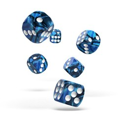 Oakie Doakie Dice - D6 Gemidice Twilight Stone 16mm Set of 12