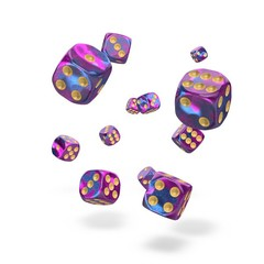 Oakie Doakie Dice - D6 Gemidice Amethyst 12mm Set of 36