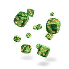 Oakie Doakie Dice - D6 Gemidice Jungle 12mm Set of 36 (ODD400034)