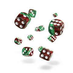 Oakie Doakie Dice - D6 Gemidice Bloody Jungle 12mm Set of 36