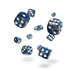 Oakie Doakie Dice - D6 Gemidice Liquid Steel 12mm Set of 36 (ODD400042)