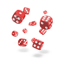 Oakie Doakie Dice - D6 Marble Red 12mm Set of 36