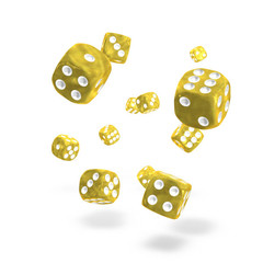 Oakie Doakie Dice - D6 Marble Yellow 12mm Set of 36 (ODD400006)