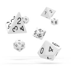 Oakie Doakie Dice - RPG-Set Solid White