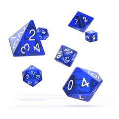Oakie Doakie Dice - RPG-Set Translucent Blue