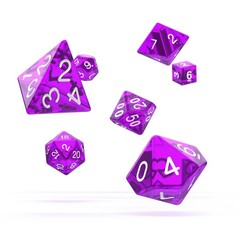 Oakie Doakie Dice - RPG-Set Translucent Purple