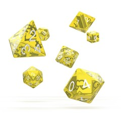 Oakie Doakie Dice - RPG-Set Translucent Yellow