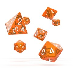 Oakie Doakie Dice - RPG-Set Translucent Orange