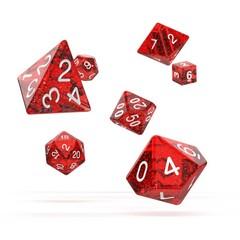 Oakie Doakie Dice - RPG-Set Speckled Red