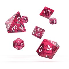 Oakie Doakie Dice - RPG-Set Speckled Pink