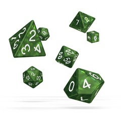 Oakie Doakie Dice - RPG-Set Marble Green