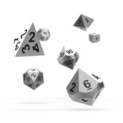 Oakie Doakie Dice - RPG-Set Metal Mercury