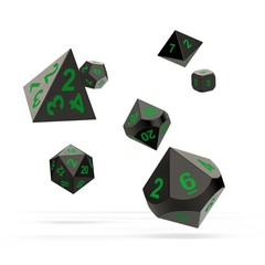 Oakie Doakie Dice - RPG-Set Metal Matrix