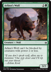 Arlinn's Wolf on Channel Fireball