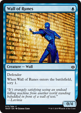 Wall of Runes - Foil