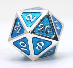 Dire d20 - Mythica Platinum Aquamarine