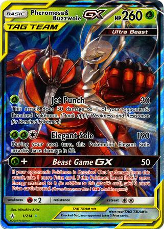 Pheromosa & Buzzwole Tag Team GX - 1/214 - Ultra Rare